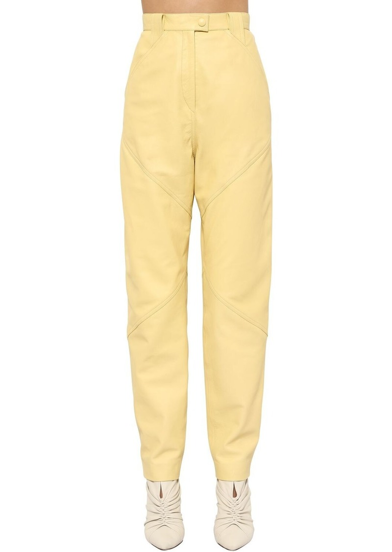 Isabel Marant Xenia Straight Leg Leather Pants