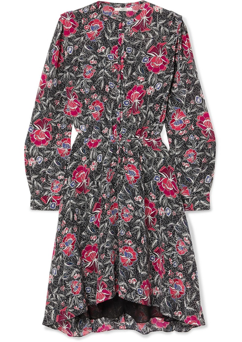 Isabel Marant Yandra Floral-print Silk Crepe De Chine Dress