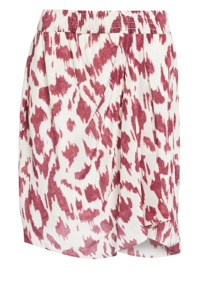 Isabel Marant Yegart Abstract Print Silk Mini Skirt