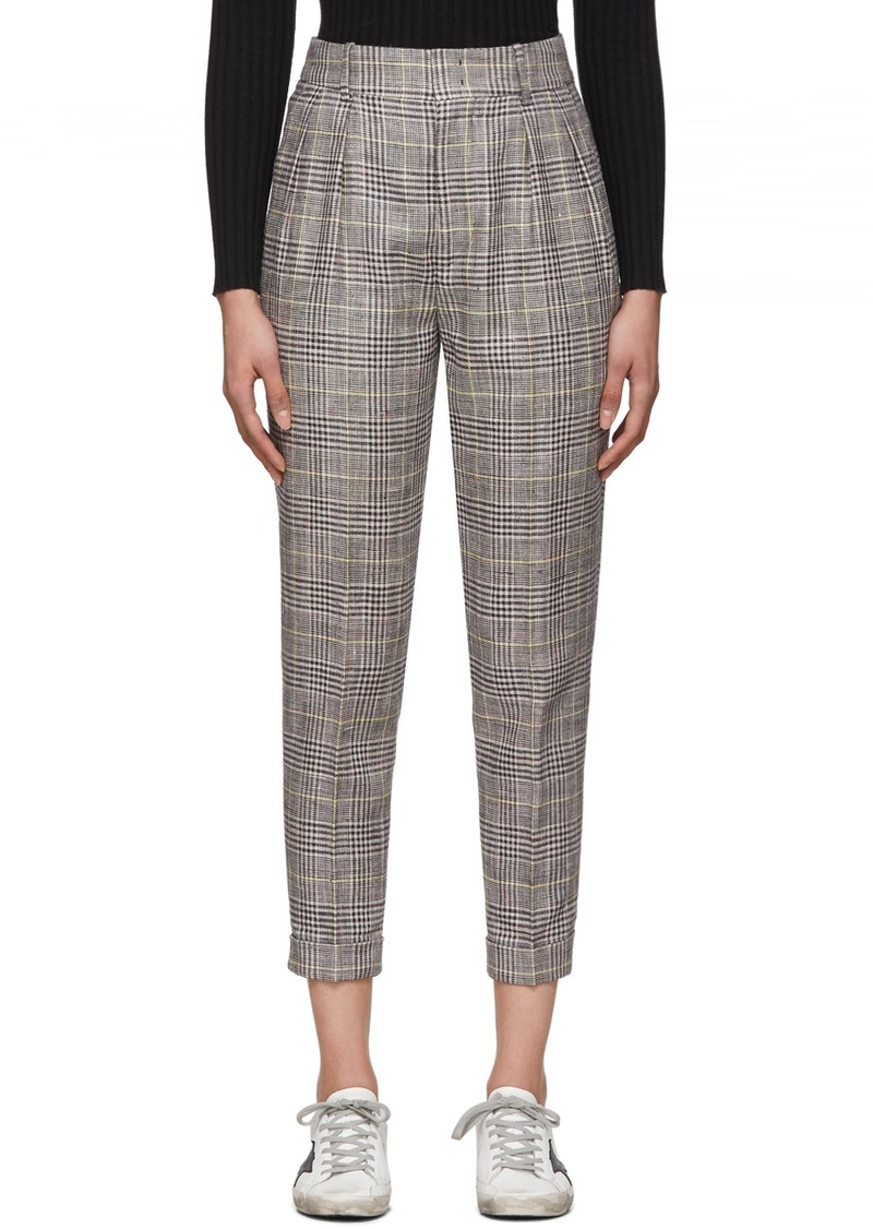Isabel Marant Yellow & Grey Check Cayo Trousers