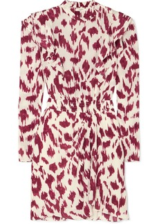 Isabel Marant Yoana Ruffled Printed Silk Crepe De Chine Mini Dress