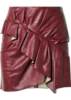 Isabel Marant Zeist Ruffled Faux Textured-leather Mini Skirt