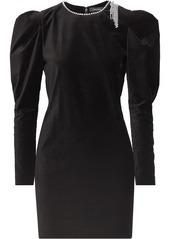 Isabel Marant Ziane Crystal-embellished Velvet Mini Dress