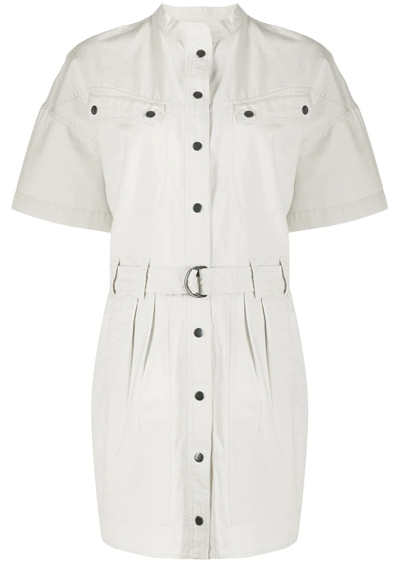 Isabel Marant Zolina belted waist shirt dress