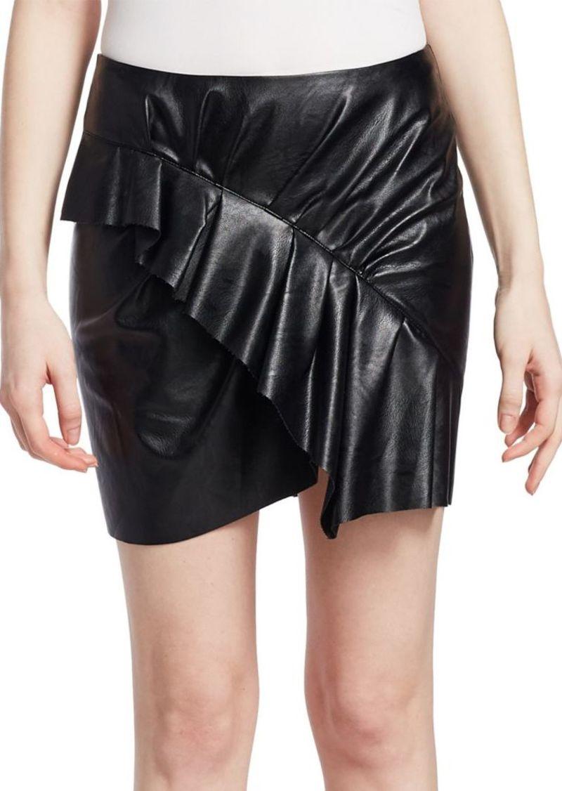 Isabel Marant Zst Faux-Leather Mini Skirt