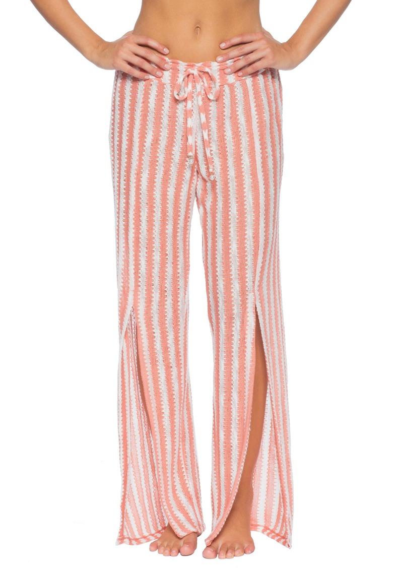 Isabella Rose Stripe Knit Cover-Up Pants