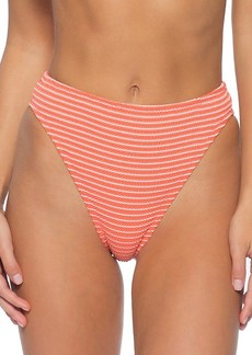 Isabella Rose Tivoli Puckered Striped Bikini Bottom