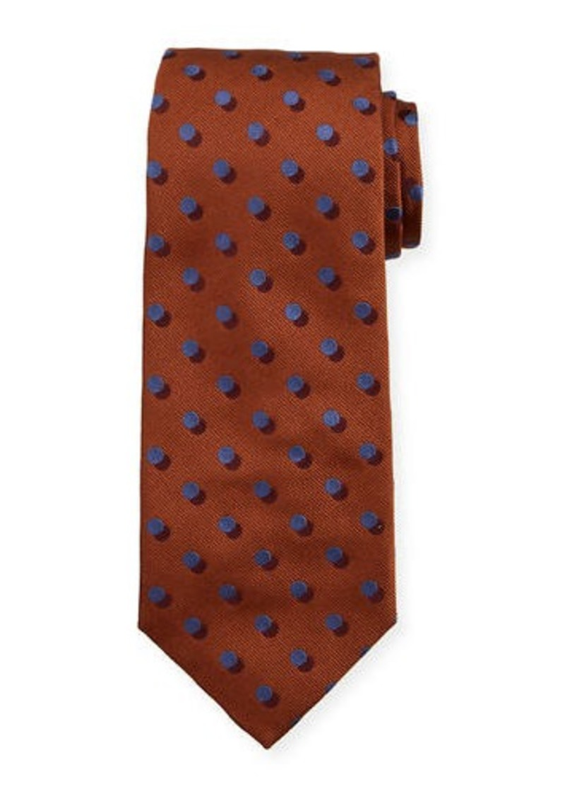 Isaia 3D-Dotted Silk Tie