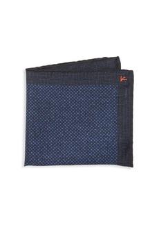 Isaia Box-Print Silk Pocket Square