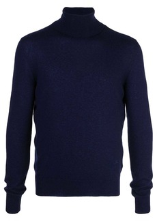 Isaia cashmere roll-neck sweatshirt