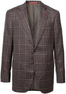 Isaia check pattern blazer