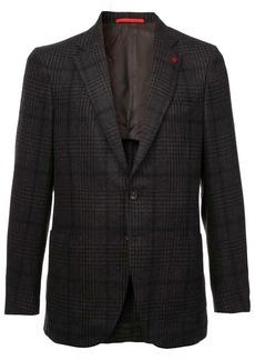 Isaia checked pattern blazer