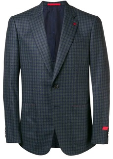 Isaia checked tailored blazer