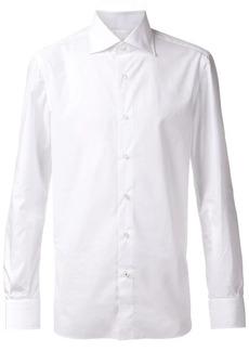 Isaia cut-away collar shirt