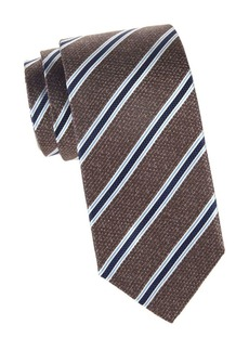 Isaia Diagonal Stripe Silk Tie