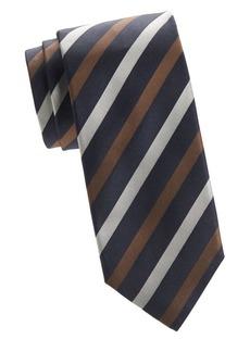 Isaia Diagonal Stripe Tie