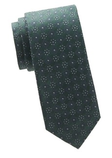 Isaia Embroidered Silk Tie