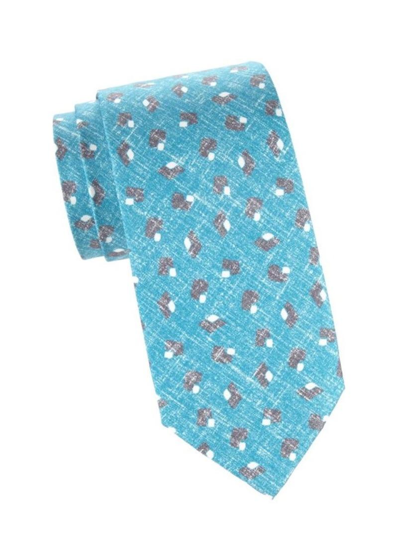 Isaia Faded Diamond Silk Tie