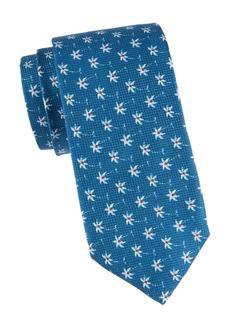 Isaia Floral Cotton-Blend Tie