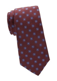 Isaia Floral Dot Silk Tie