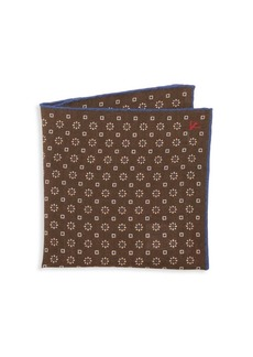 Isaia Floral Geo Pocket Square