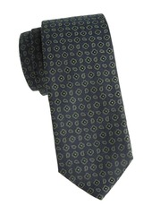 Isaia Floral Wool & Silk Tie