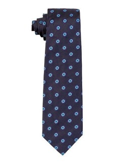 Isaia Flower Circle Silk Tie