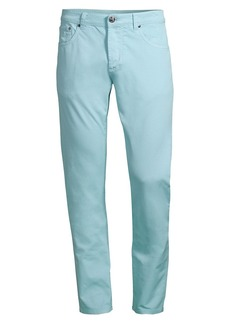 Isaia Gabardine Five-Pocket Pants