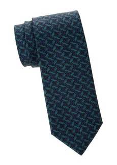 Isaia Geometric Textured Silk Tie