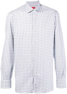 Isaia gingham button shirt