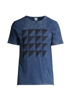Isaia Graphic Tie-Dye T-Shirt