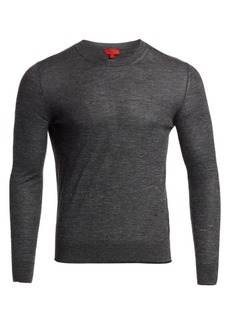 Isaia Heathered Cashmere Blend Crew Sweater