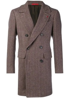 Isaia herringbone coat