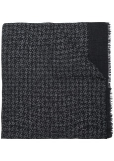 Isaia houndstooth pattern scarf