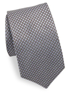 Isaia Interlock Metal Dot Silk Tie