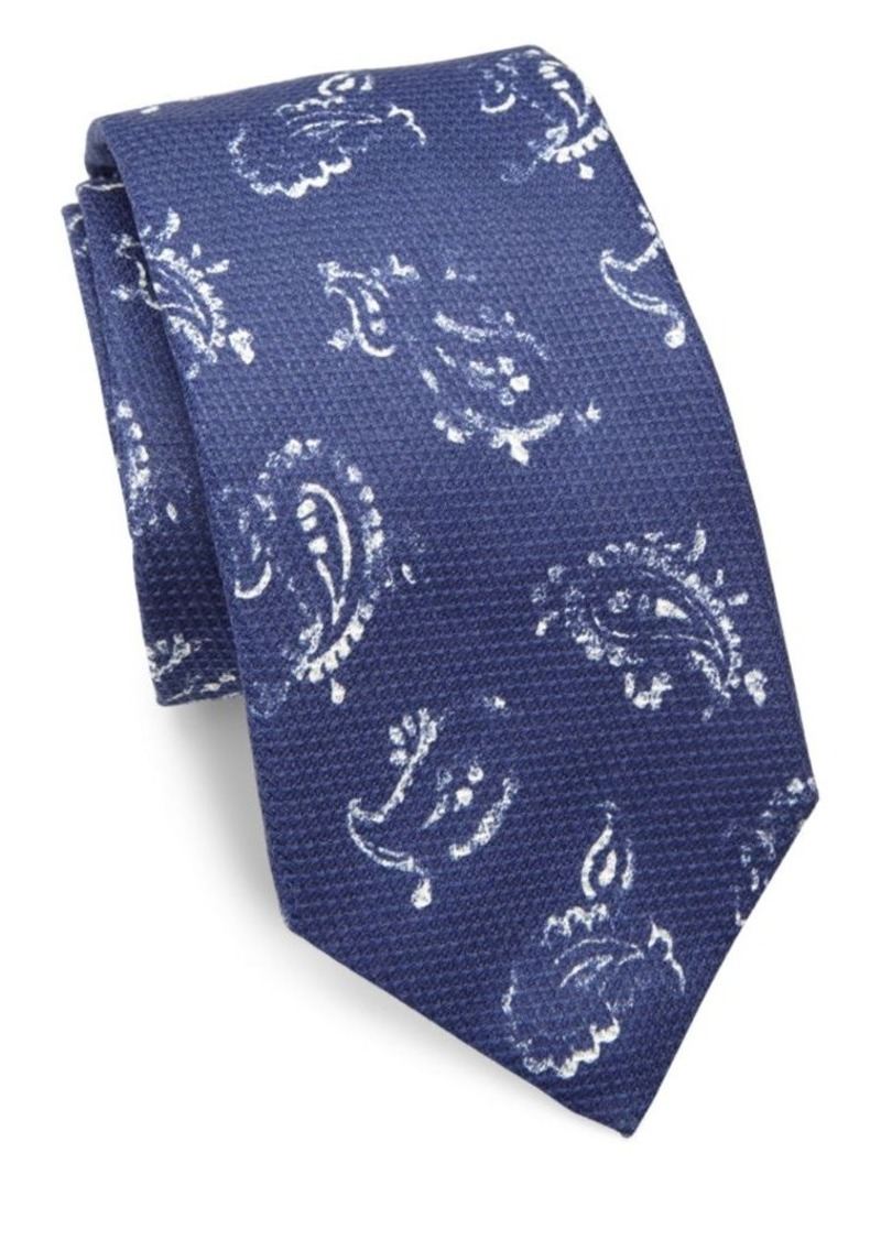 ISAIA Abstract Paisley Tie