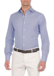 Isaia Anchor-Print Cotton Sport Shirt