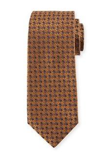 Isaia Bricks Silk Tie