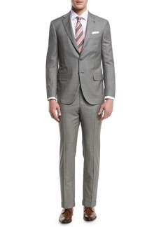 Isaia Check Aquaspider Super 160s Wool Two-Piece Suit