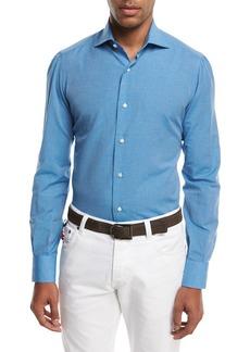 Isaia Cotton-Linen Sport Shirt