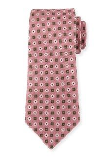 Isaia Flower Medallion Silk Tie