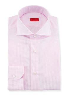 Isaia Gingham Cotton Dress Shirt