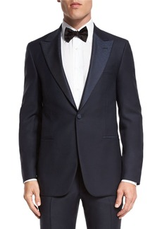 Isaia Jacquard-Lapel Tuxedo Suit