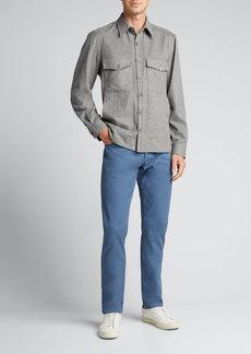 Isaia Men's 4-Pocket Wool-Cashmere Overshirt