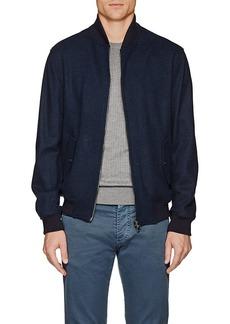 Isaia Men's Cashmere Bomber Jacket
