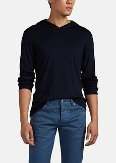 Isaia Men's Cashmere-Silk Jersey Hoodie