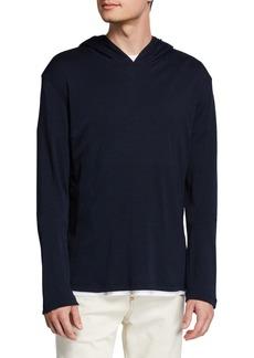 Isaia Men's Cashmere-Silk Pullover Hoodie