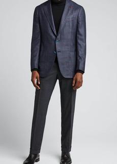 Isaia Men's Check Silk-Cashmere Sport Jacket