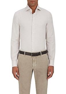 Isaia Men's Cotton-Cashmere Twill Dress Shirt