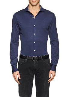 Isaia Men's Cotton Jersey Shirt